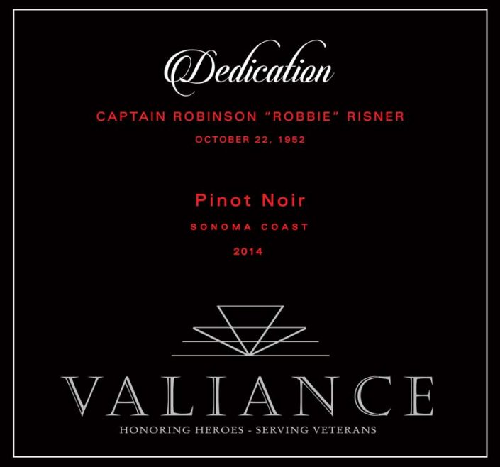 VALIANCE DEDICATION FRONT LABEL PINOT GREY