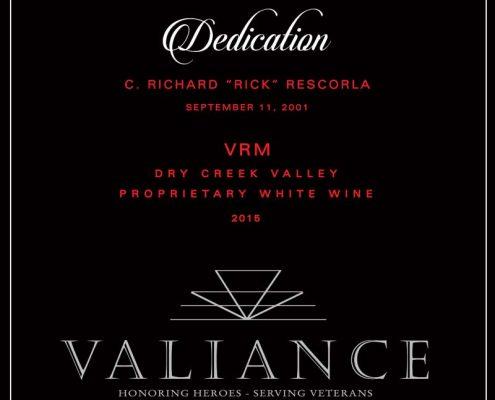 VALIANCE DEDICATION FRONT LABEL