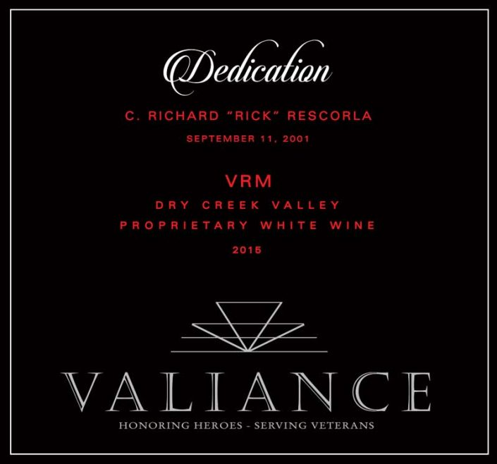 VALIANCE DEDICATION FRONT LABEL